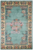 Chinese Carved Blue Rug