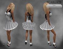 Ecarlate - Dress Gown Flower - Wihte-Black / Robe decontracte Blanche-Noire- Tyna