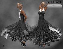 Ecarlate - Dress Gown Formal Flower - Black / Robe Noire - Tyna (Longue)