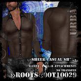>>ROOTS<<00T10029 (Men's Sheer Casual Shirt)