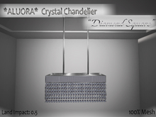 "*ALUORA* Crystal Chandelier ""Diamond Square"" - P.E."