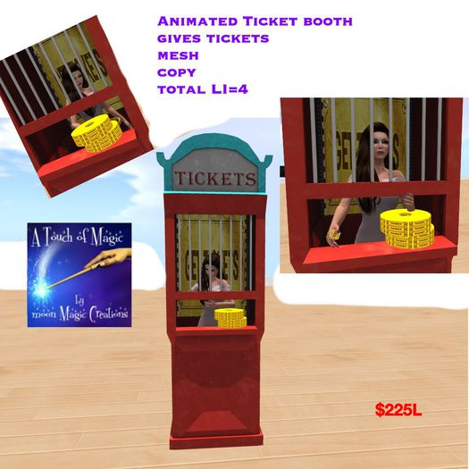 Animated Ticket Booth gives tickets