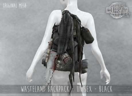 -DRD- Wasteland Backpack - Unisex - Black