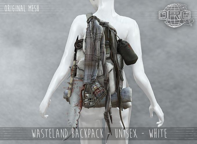 -DRD- Wasteland Backpack  - Unisex - White