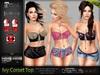 * Promo*Ivy Corset Top MESH - Maitreya Lara, Slink Physique Hourglass, Belleza, Freya, Isis, Venus - HUD - FashionNatic