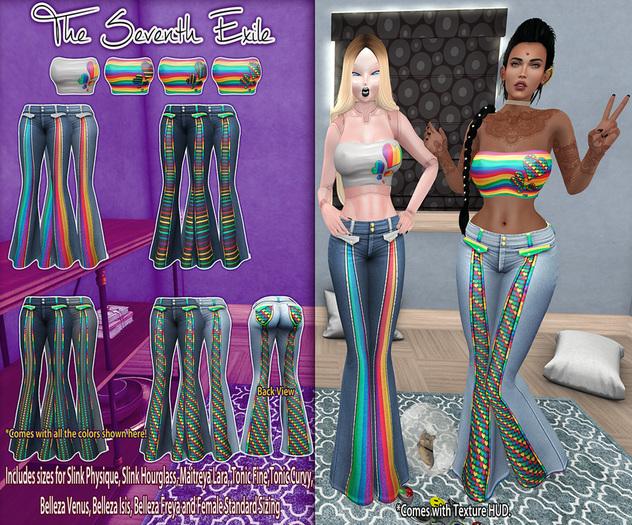 T7E: Summatime Outfit - Rainbows: Set 3