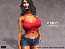 [F] Daisy Tank & Shorts - Fitmesh
