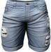 RIOT / Emery Denim Shorts - Blue64   Men's Belleza / Slink / Adam / Signature