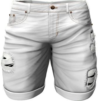 RIOT / Emery Denim Shorts - White   Men's Belleza / Slink / Adam / Signature