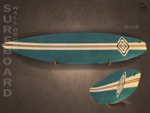 #187# Surfboard Wall Decor BLUE