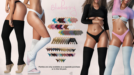 Blueberry - Tinker Double Tops - Maitreya, Belleza (All), Slink Physique Hourglass - ( Mesh ) - Fat Pack
