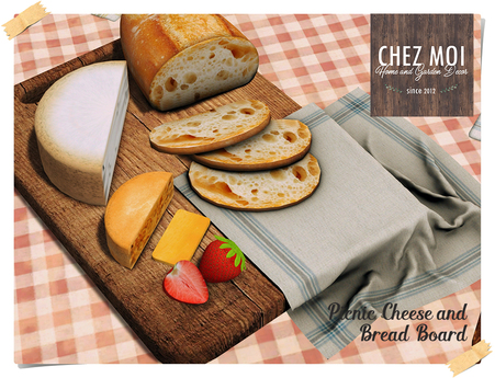 Picnic Cheese and Bread ♥ CHEZ MOI