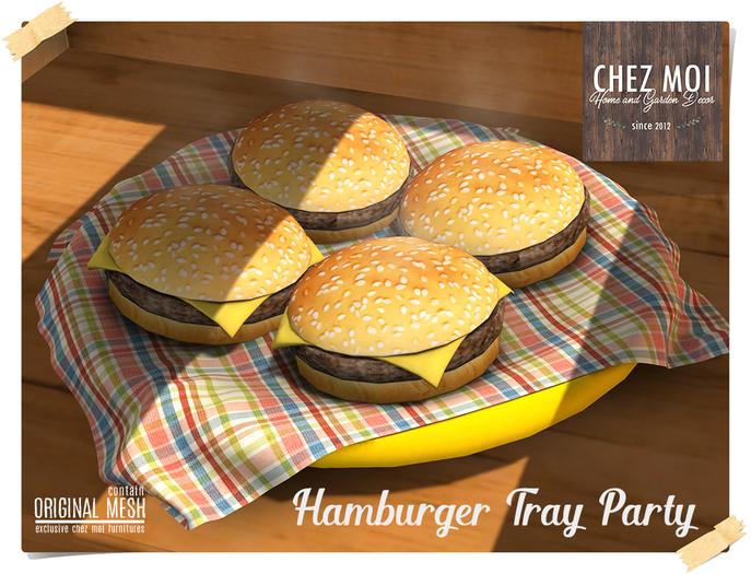 Hamburger Tray Party ♥ CHEZ MOI