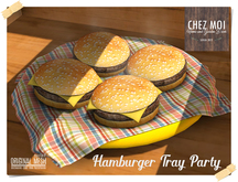 Hamburger Tray Party ♥ CHEZ MOI