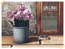 Bucket Vintage Flowers ♥ CHEZ MOI
