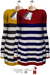 GIZ SEORN - Sailor Maxi Sweater [Thick Striped Red - Lemon]