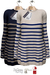 GIZ SEORN - Sailor Maxi Sweater [Striped NavyBlue - Cream]