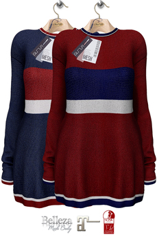 GIZ SEORN - Sailor Maxi Sweater [Striped Blue - Red]