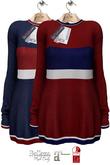 GizzA - Sailor Maxi Sweater [Striped Blue - Red]
