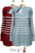 GIZ SEORN - Sailor Maxi Sweater [Striped BabyBlue - Red]