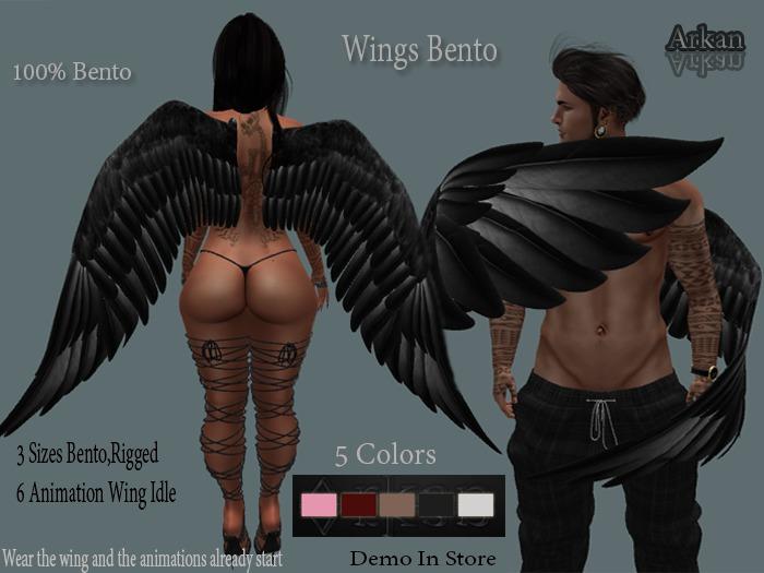 .::Arkan::. Bento Wings + Fitmesh