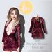 (fd) Open Party Dress - Velvet Plum