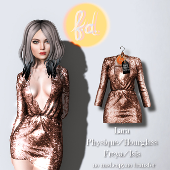 (fd) Open Party Dress - Sequin Rose Gold
