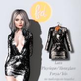 (fd) Open Party Dress - Sequin Black