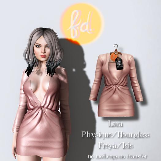 (fd) Open Party Dress - Pink