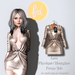 (fd) Open Party Dress - Metallic Stone