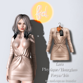 (fd) Open Party Dress - Cream