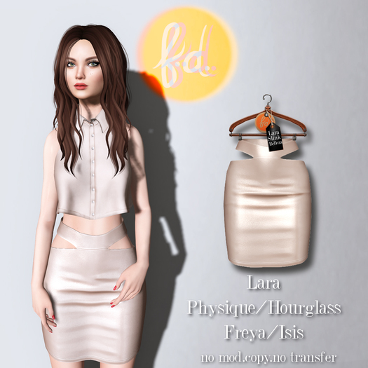 (fd) Cutout Pencil Skirt - Cream