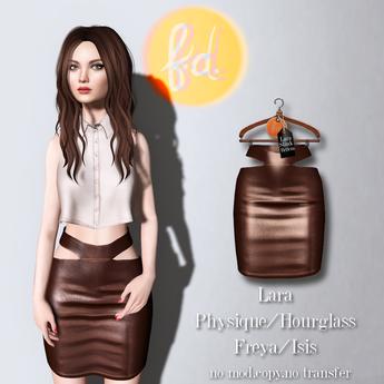 (fd) Cutout Pencil Skirt - Brown