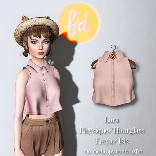 (fd) Cropped Collar Tank - Pink