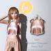 Marketplace vendor cropped collar tank metallic rose gold