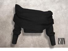 ISON - bailey cowl wrap top (black)