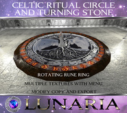 Celtic Ritual Circle / Turning Stone with 16 Textures + Menu