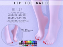 :glutz: tip toe nails / for glutz feet & default