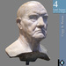 3D / Bust of an Old Man / 4 land impact