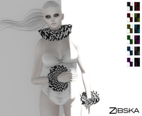 Zibska ~ Ballard Color Change Ruffle Collar and Cuffs