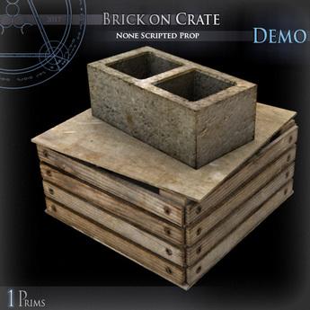 (Demo) Brick on Crate