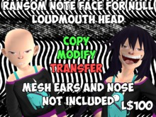 [Tiny Threads] Ransom Note Face for Null Loudmouth Head