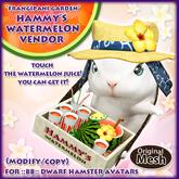 *FG* Hammy's Watermelon Vendor Set (Suika Juice)
