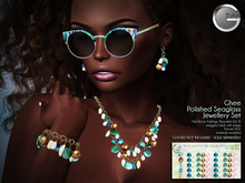 Ghee Polished Seaglass Jewellery Set w HUD