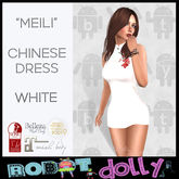 """Robot Dolly - """"Meili"""" - Chinese Dress - White"""