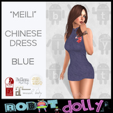 """Robot Dolly - """"Meili"""" - Chinese Dress - Blue"""