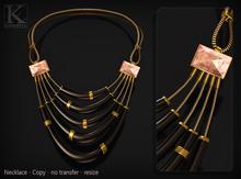 (Kunglers) Camilla necklace - ebony