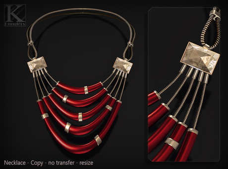 (Kunglers) Camilla necklace - cardinal