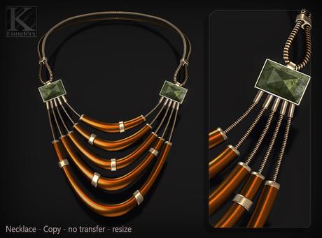 (Kunglers) Camilla necklace - jasper