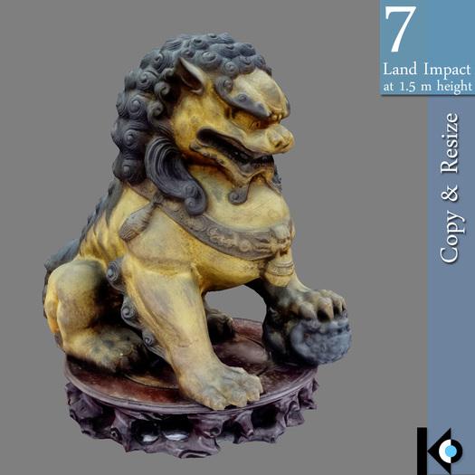 3D / Foo Dog Statue / 7 land impact